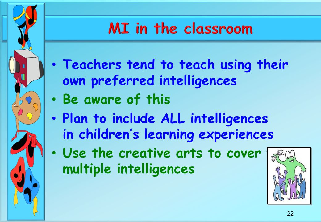 fsm classroom teachers vs multiple intelligences essay This presentation is about howard gardner's multiple intelligence theory  (1994) multiple intelligence in the classroom multiple intelligences:.
