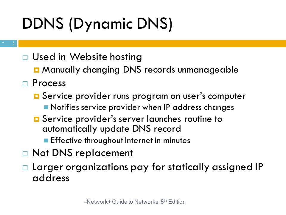 DDNS (Dynamic DNS) Used in Website hosting Process Not DNS replacement