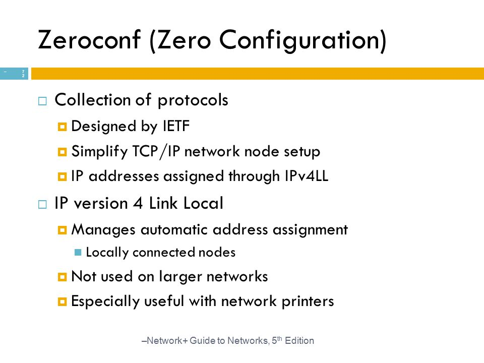Zeroconf (Zero Configuration)