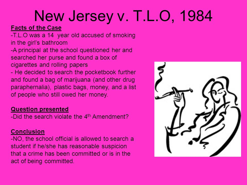 the facts of the case new jersey versus tlo A student film created to educate kids on the nature of a famous court case.
