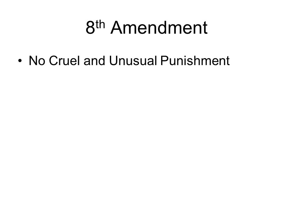 the 8th amendment cruel and unusual ''cruel and unusual punishments'' --''difficulty would attend the effort to define with exactness the extent of the constitutional provision which provides that cruel and unusual punishments shall not be inflicted but it is safe to affirm that punishments of torture [such as drawing and.