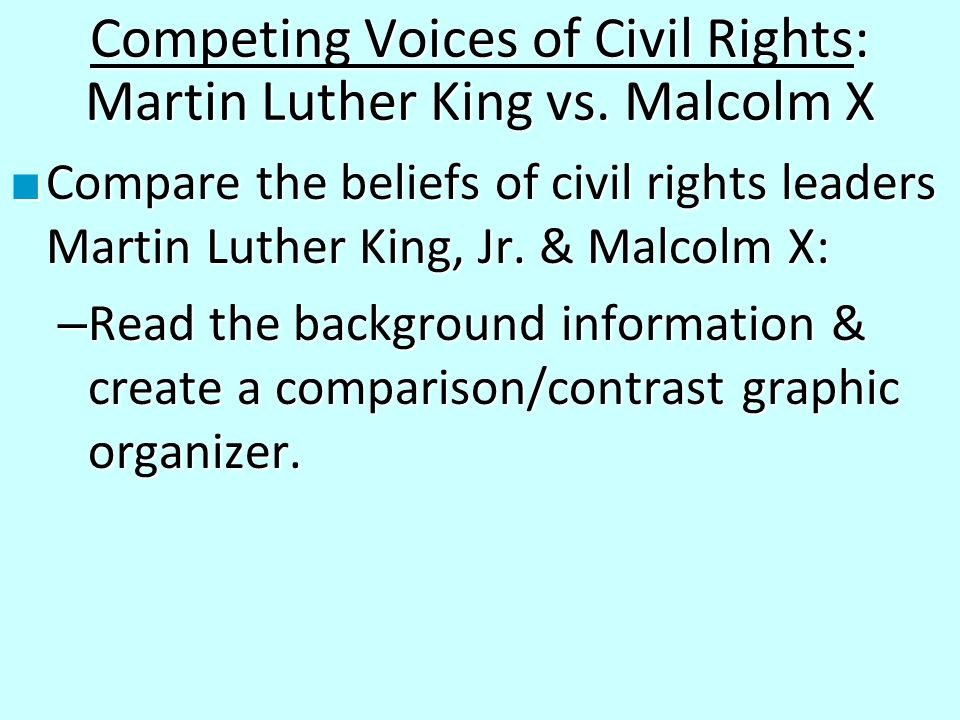 comparing and contrasting civil rights movements Topic: how recent mass rallies by those opposed to legal crackdowns on illegal  immigrants compare to the civil rights movement of the 1950s.