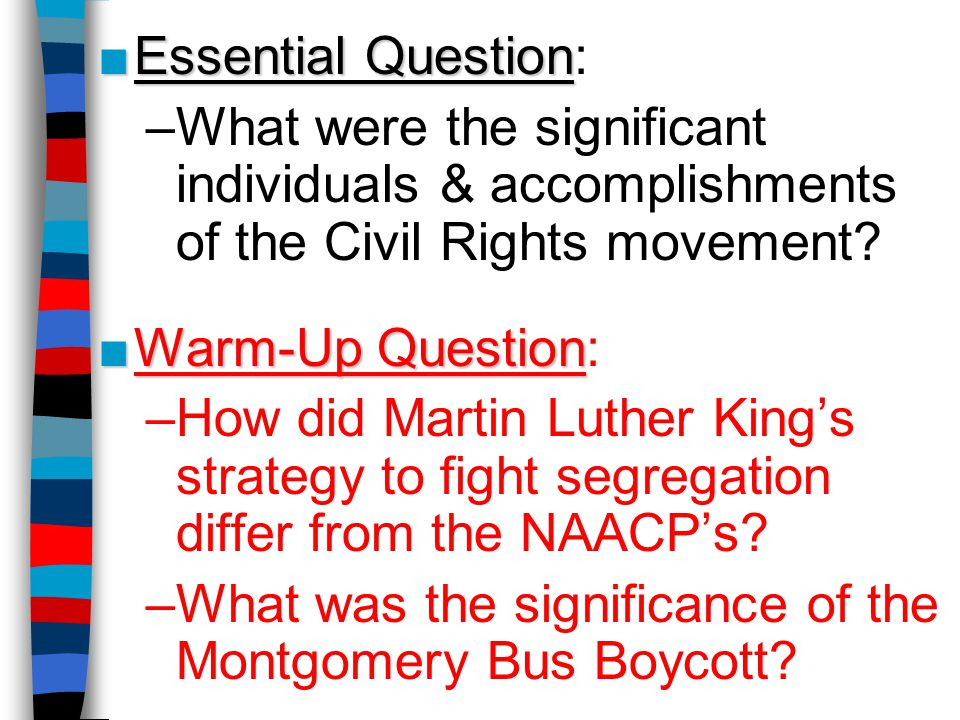 accomplishments with the municipal rights movement