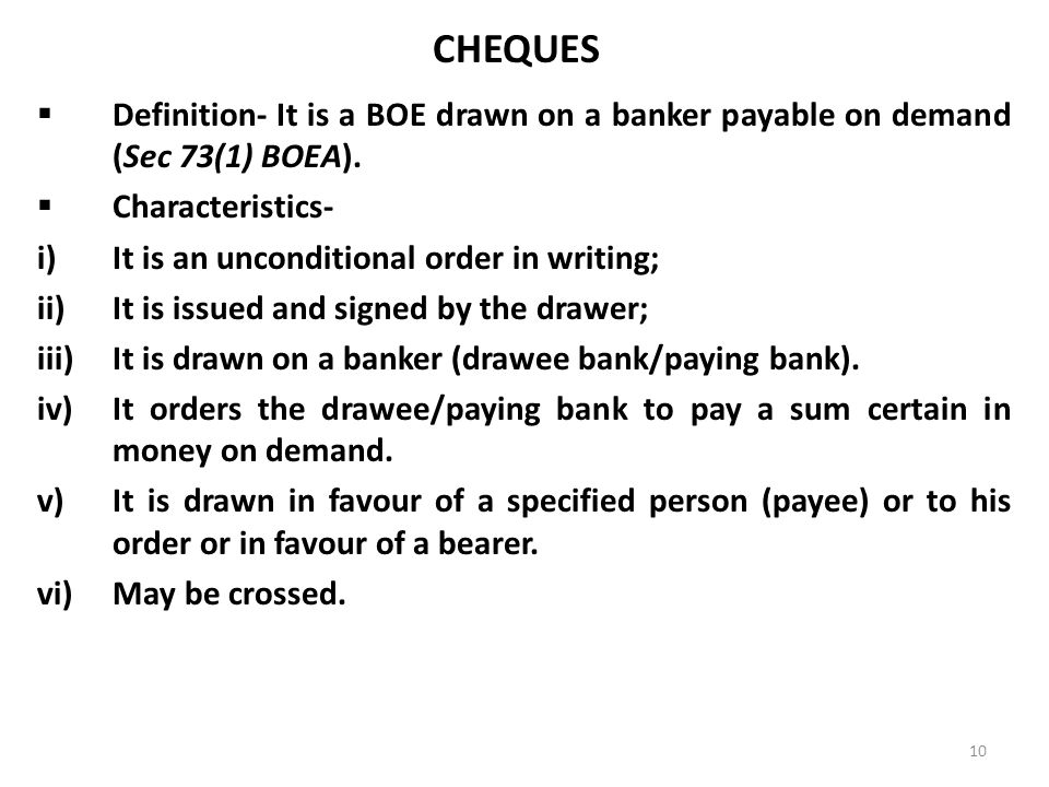 definition of negotiable instrument pdf