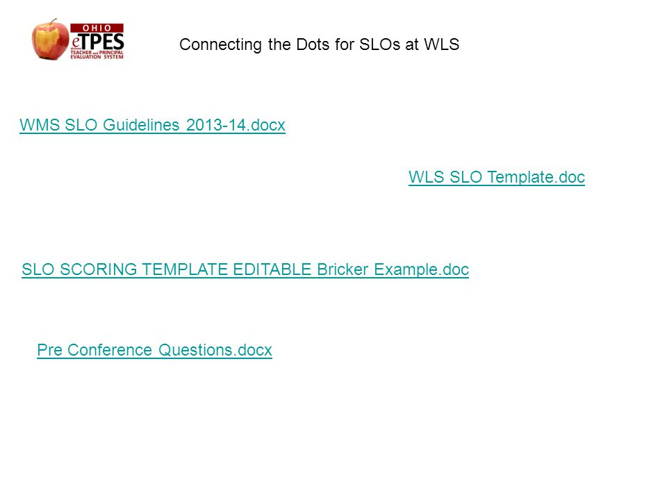 Otes etpes june 5th ppt download for Slo scoring template
