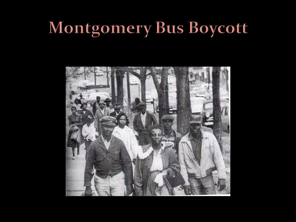 montgomery bus boycott William louis burkburnett middle school junior division individual website in  1955, a collection of citizens in montgomery, alabama decided.
