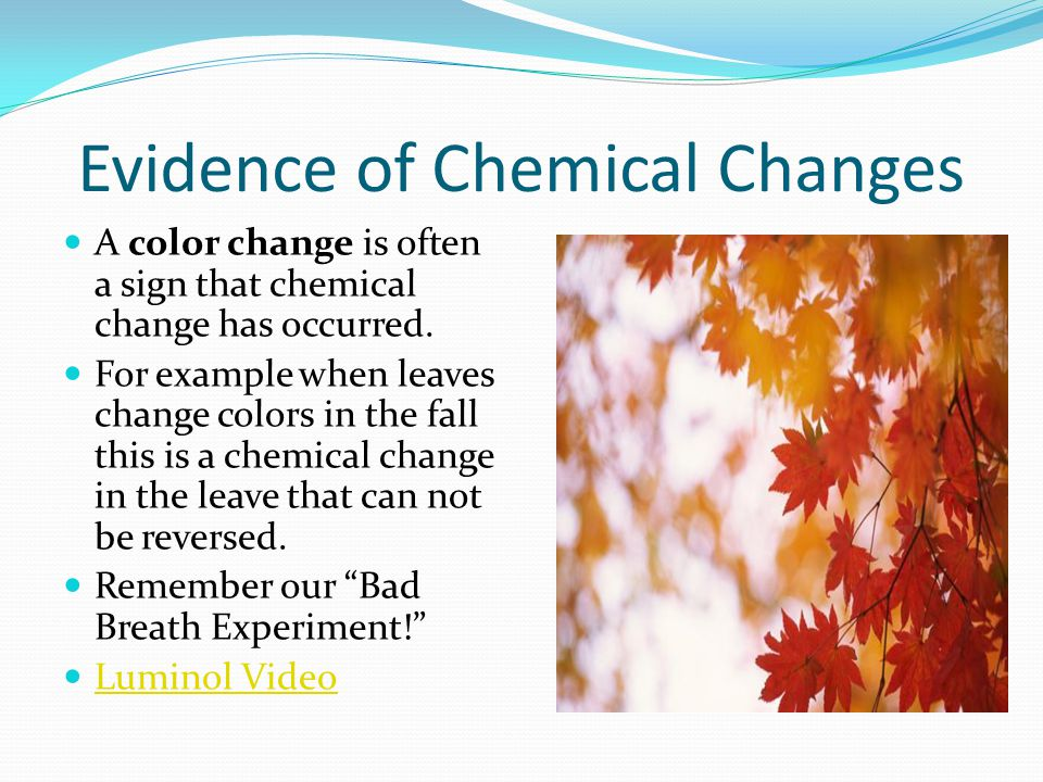 Evidence of Chemical Changes