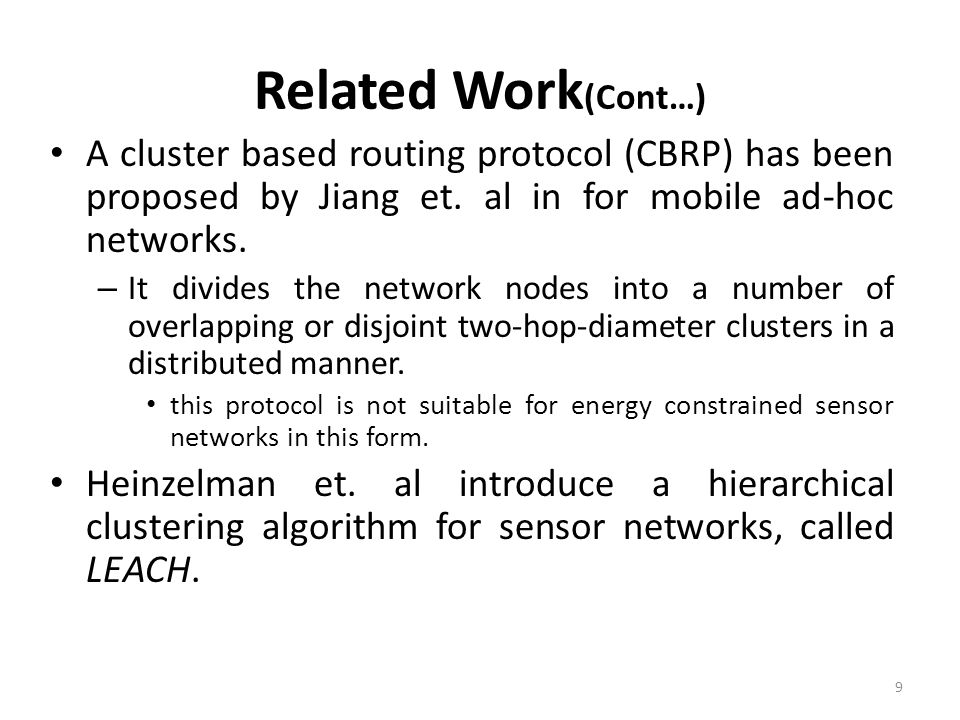 an unequal cluster based routing protocol in