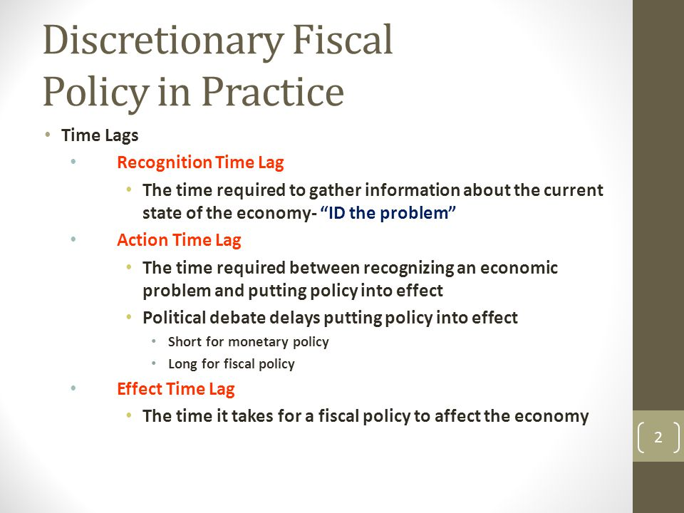 What Causes Fiscal Policy Lags?