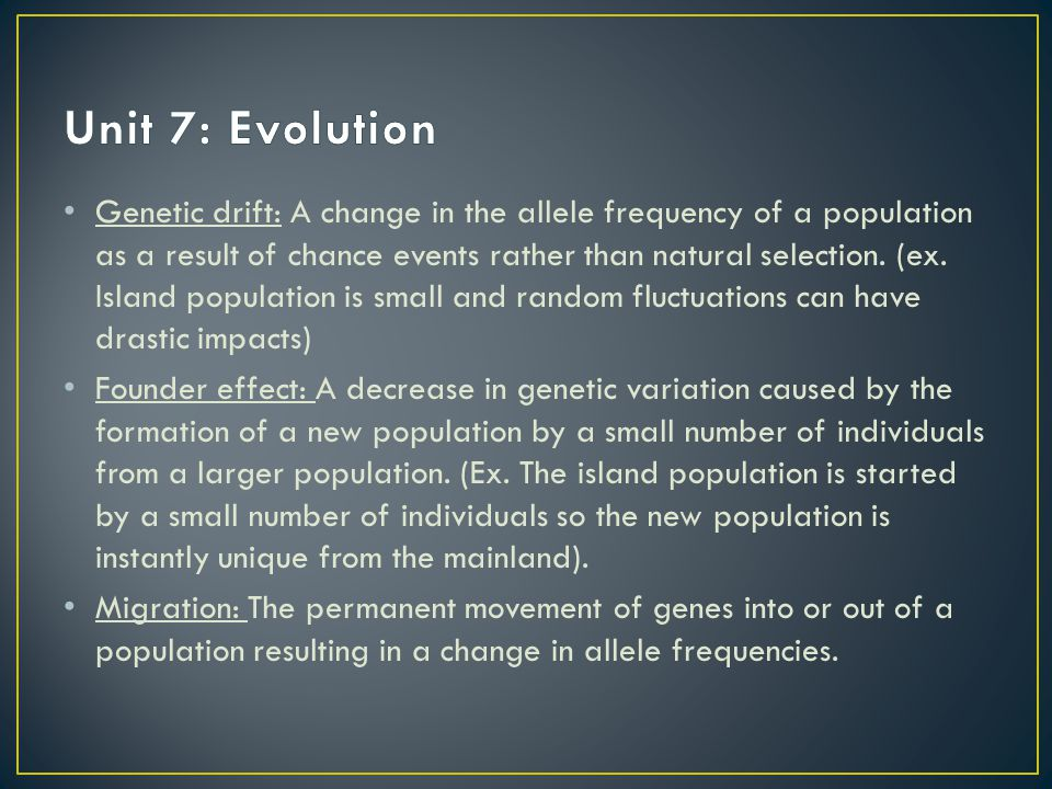 Unit 7: Evolution
