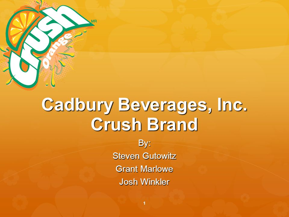 Cadbury beverages marketing analysis