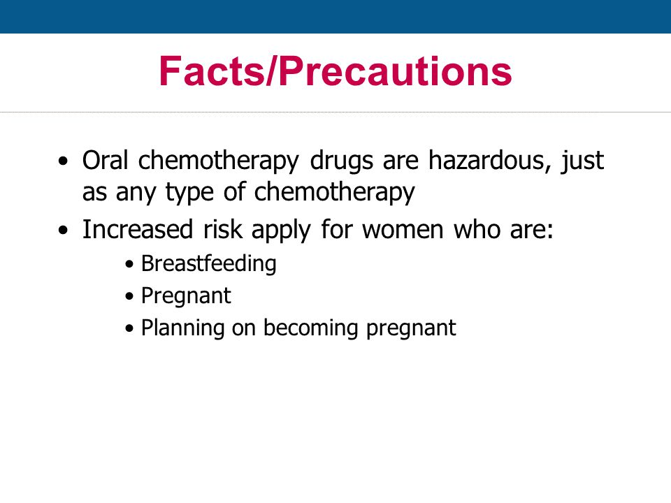 Oral Chemotherapy Facts and Precautions.