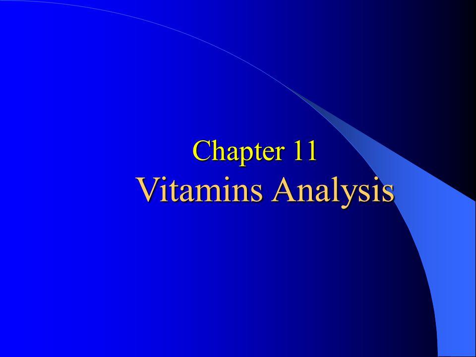 Chapter 11 Vitamins Analysis