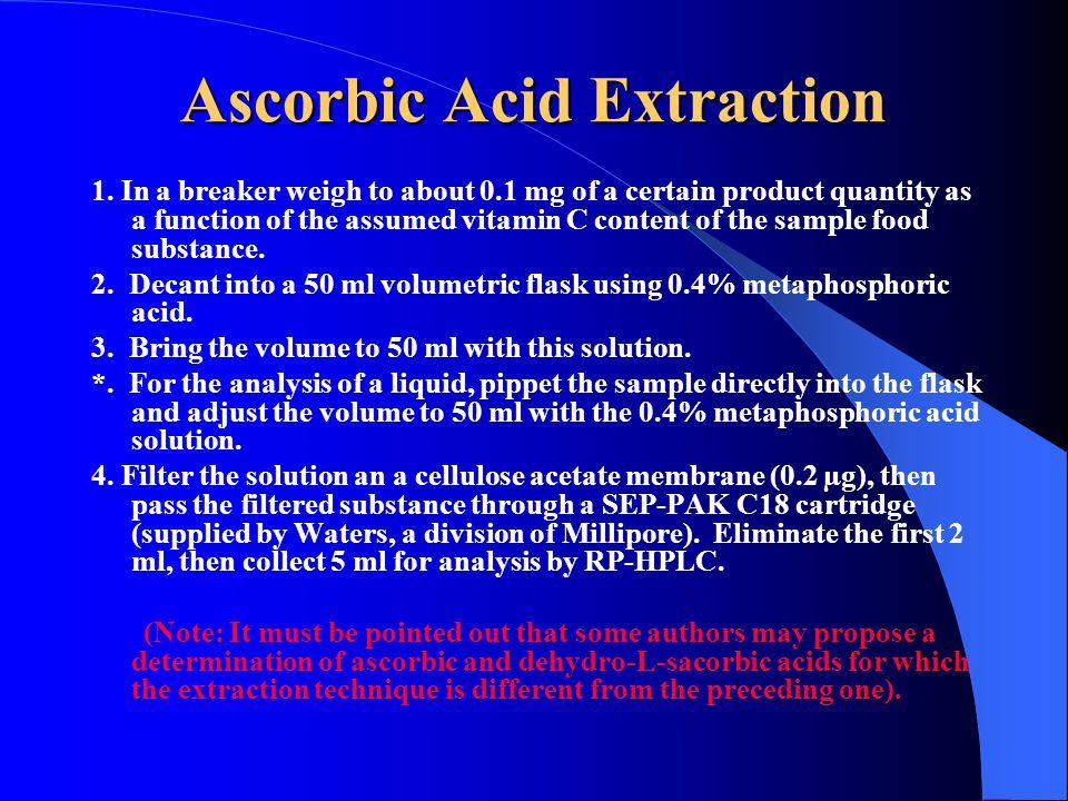 Ascorbic Acid Extraction