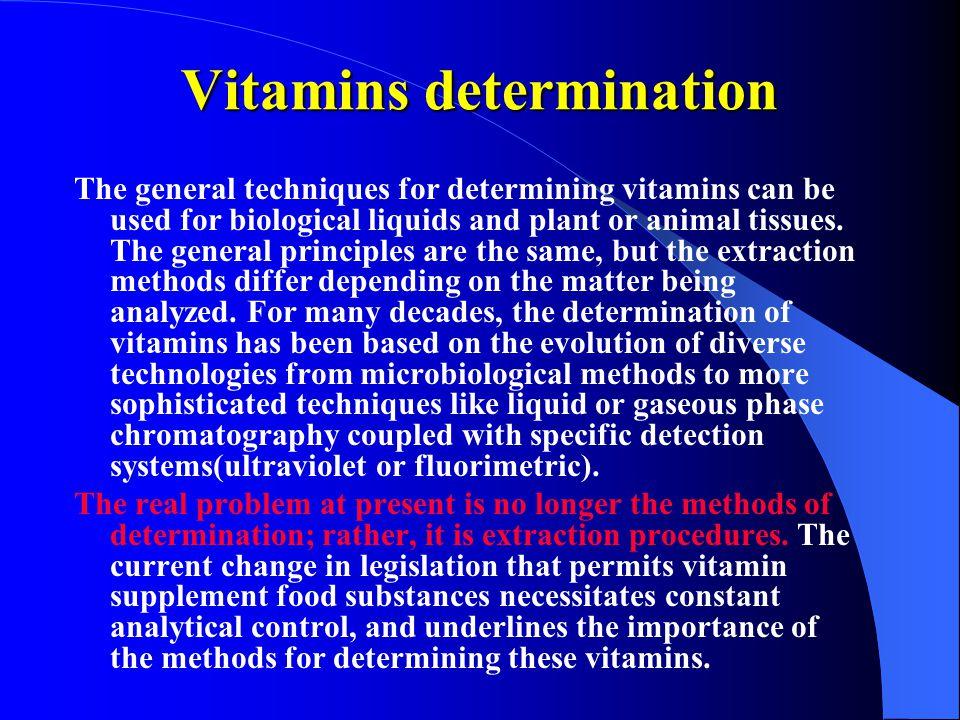 Vitamins determination