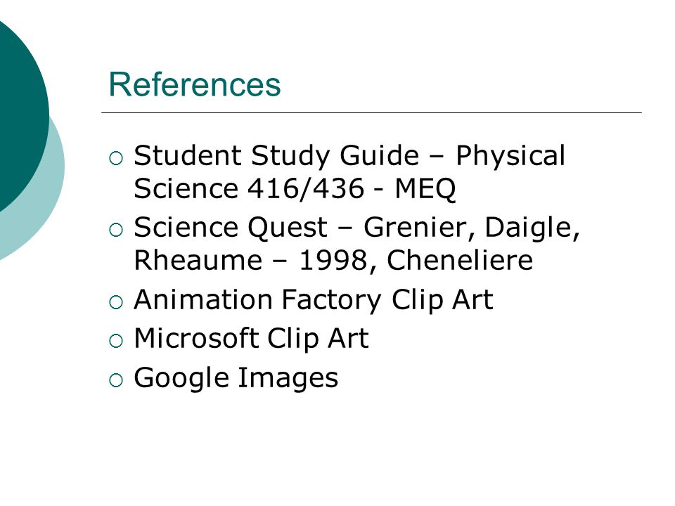 study guide for physical science A list of resources to help students study physical science.