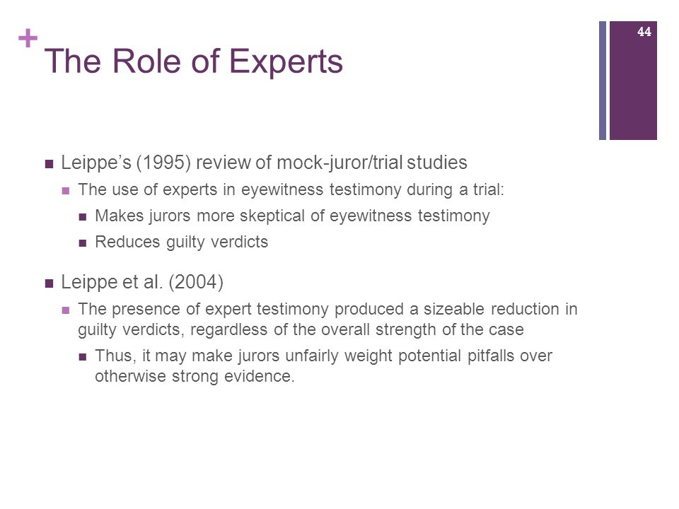 a review of incorrect eyewitness testimonies Reveal that eyewitnesses sometimes identify the wrong  wrongful conviction based on eyewitness testimony is.