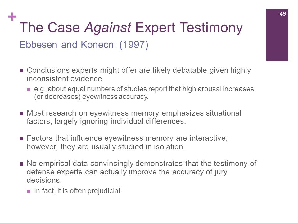 age differences in eyewitness testimony Eyewitness testimony and memory biases by cara laney and elizabeth f loftus reed college, university of california, irvine eyewitnesses can provide very compelling legal testimony, but rather than recording experiences flawlessly, their memories are susceptible to a variety of errors and biases.