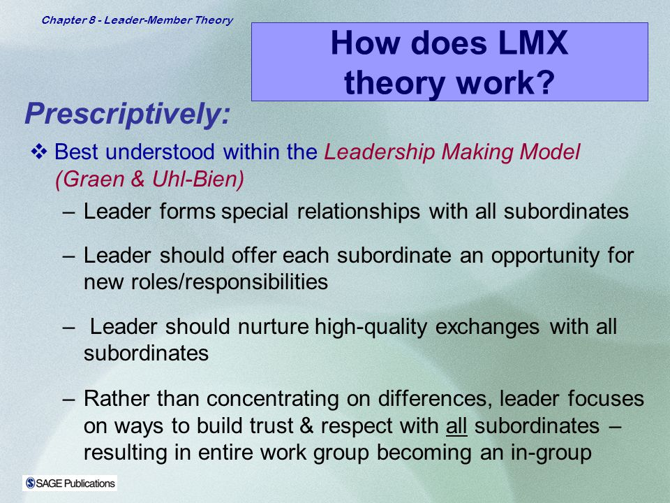 a followership approach to leader member exchange quality Why followership is now more important than leadership  who aren't natural leaders but who have qualities that can serve our  when a normally reserved member of the staff speaks up at a .
