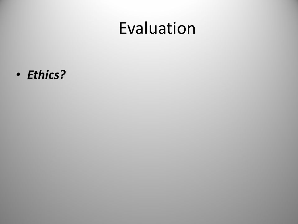 Measurement, Evaluation, And Ethics In Research