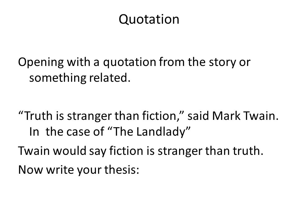 introduction and conclusion paragraphs ppt video online quotation opening a quotation from the story or something related