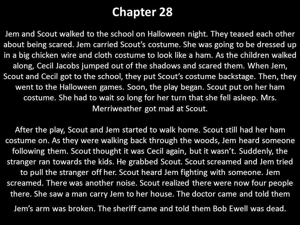 suspense in chapter 28 to kill a mockingbird To kill a mockingbird crossover fanfiction archive  t - english - adventure/suspense - chapters: 11 - words  but remember it's a sin to kill a mockingbird.