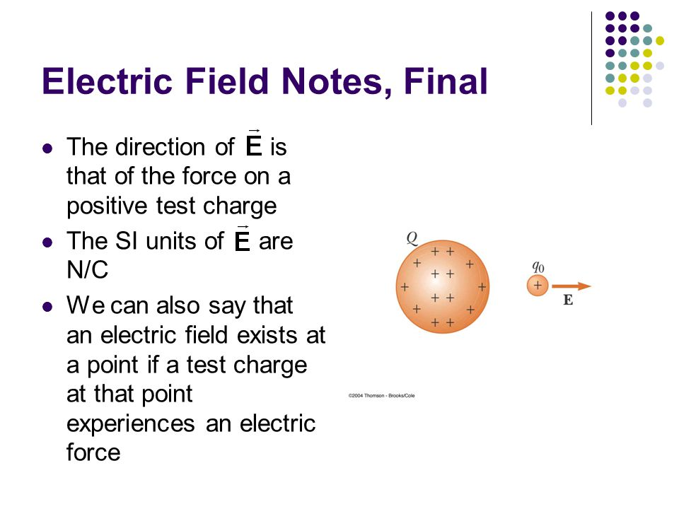 Electric Field Notes, Final