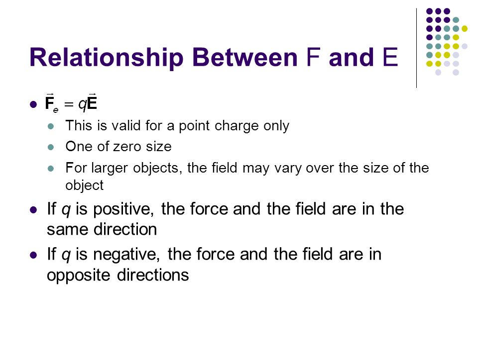 Relationship Between F and E