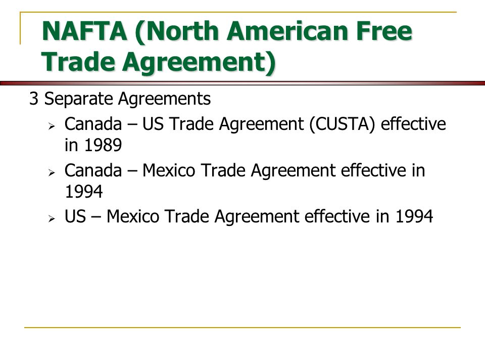 an analysis of the effectiveness of the north american free trade agreement From its very beginning, the north american free trade agreement (nafta) has   on balance, the wealth of economic analysis on the impact of nafta on the   working groups to help facilitate effective trade relationships and prevent or.