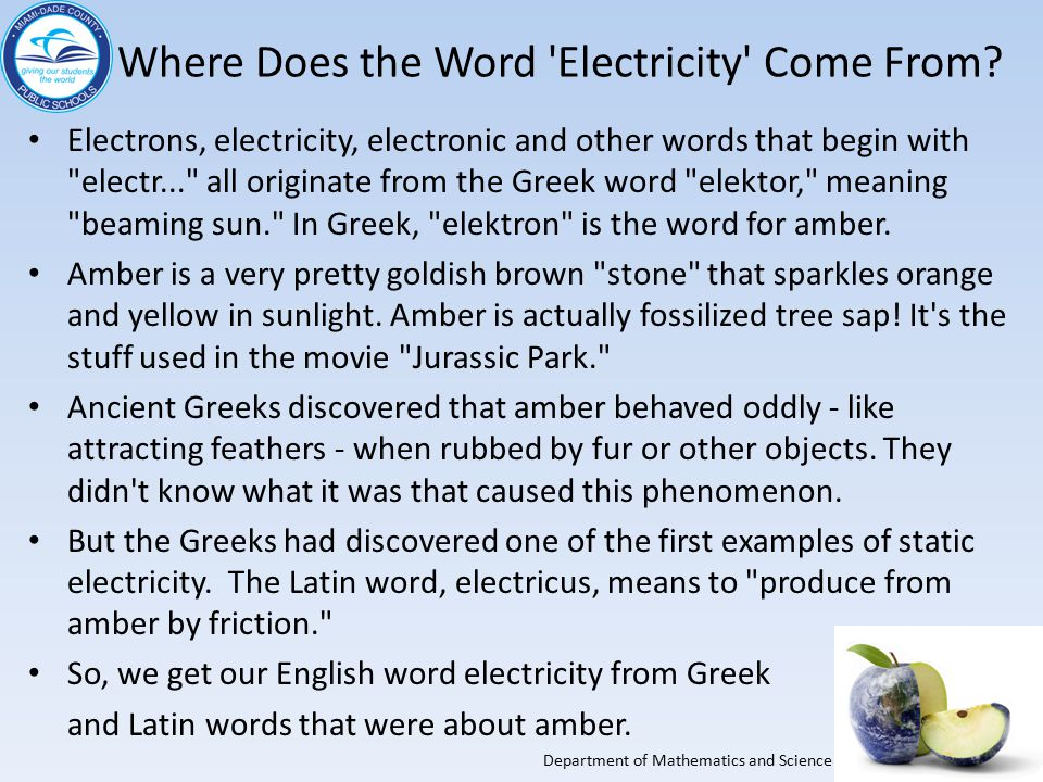 Electricity Meaning In English