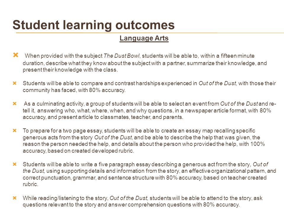 out of the dust overcoming hardships ppt 17 student learning outcomes