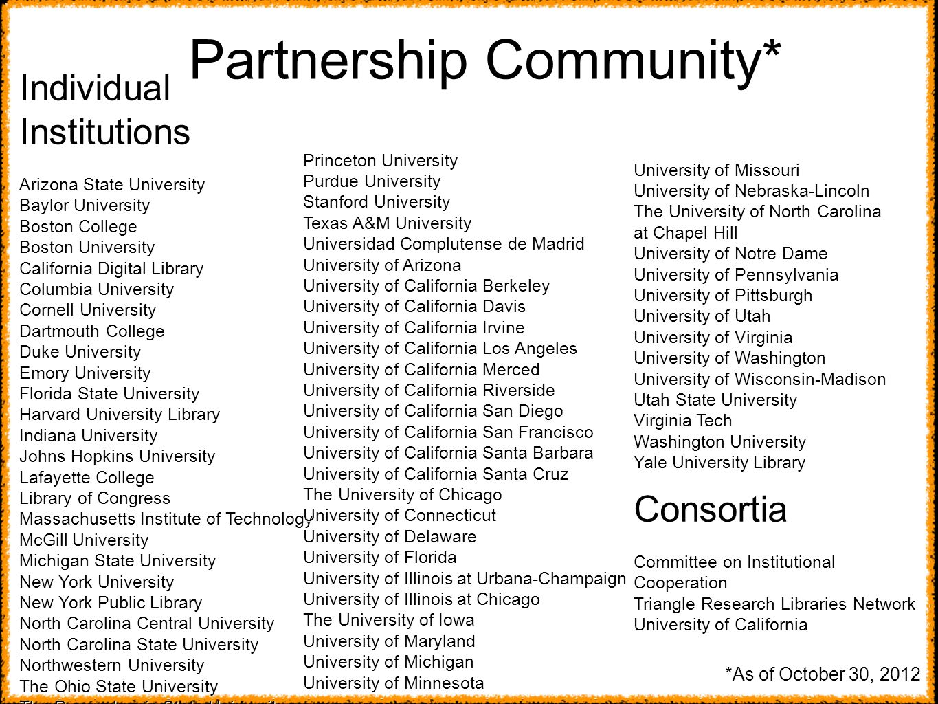 Partnership Community*