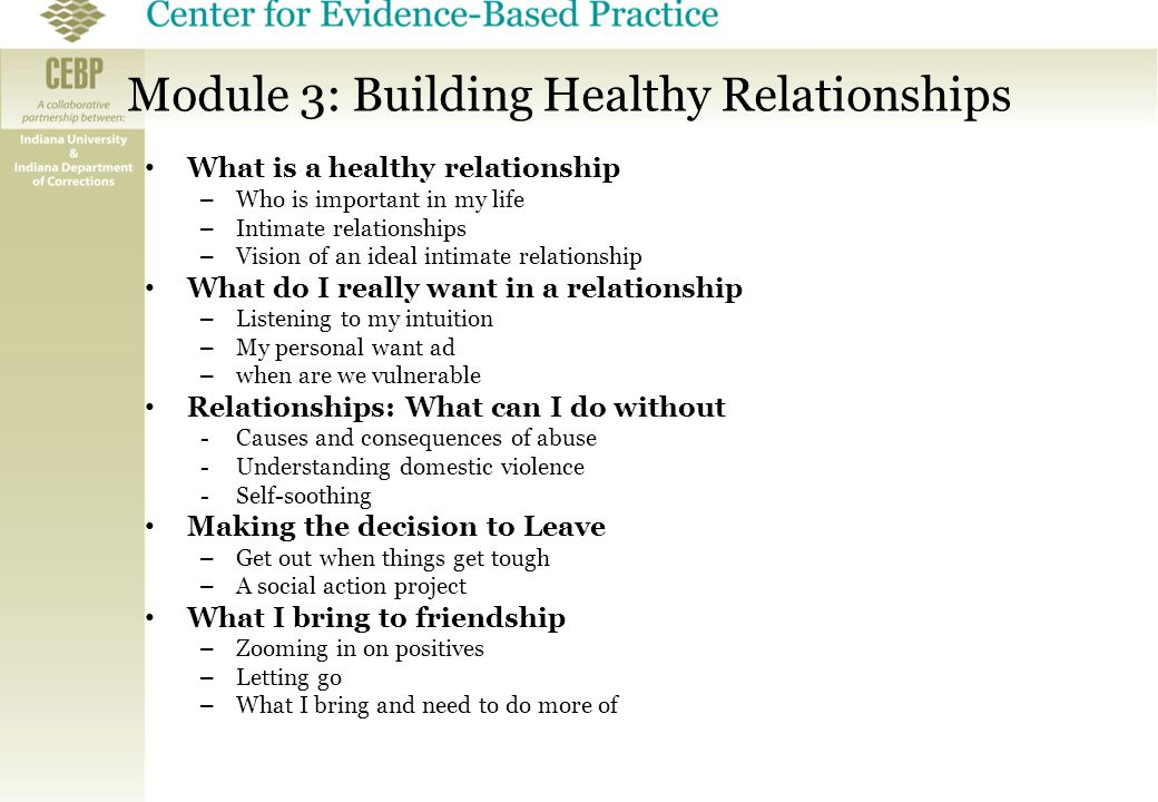 building an intimate relationship Gottman sees the capacity for intimate partners to state their needs and attempts to create a connection that is received by the other as central to successful relationships.
