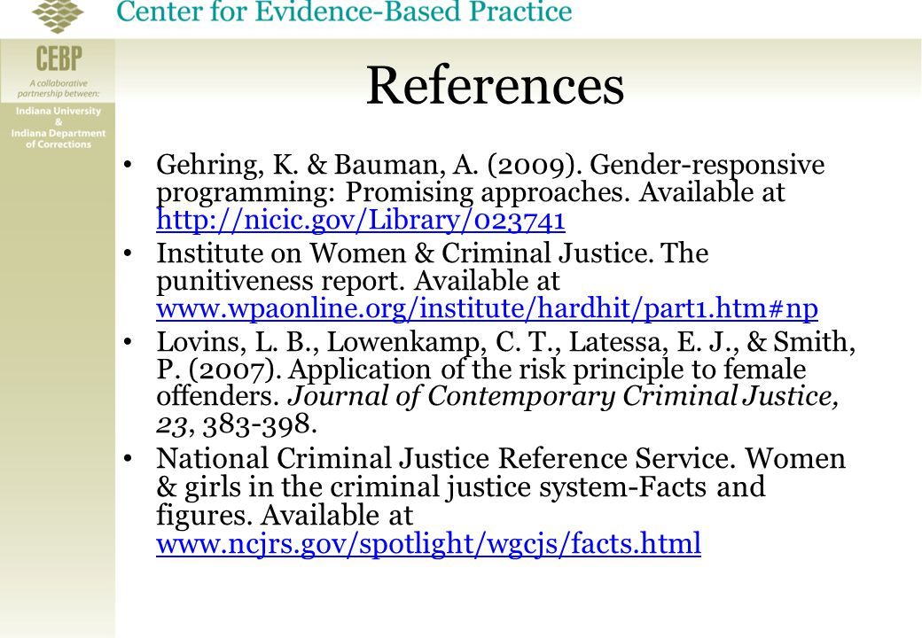 gender in criminal justice Gender affects not only how inmates are treated, but how officers interact with them and the policies they subscribe to when it comes to rehabilitation moral development can be differential according to gender, especially as it pertains to the criminal justice system men and women both react.