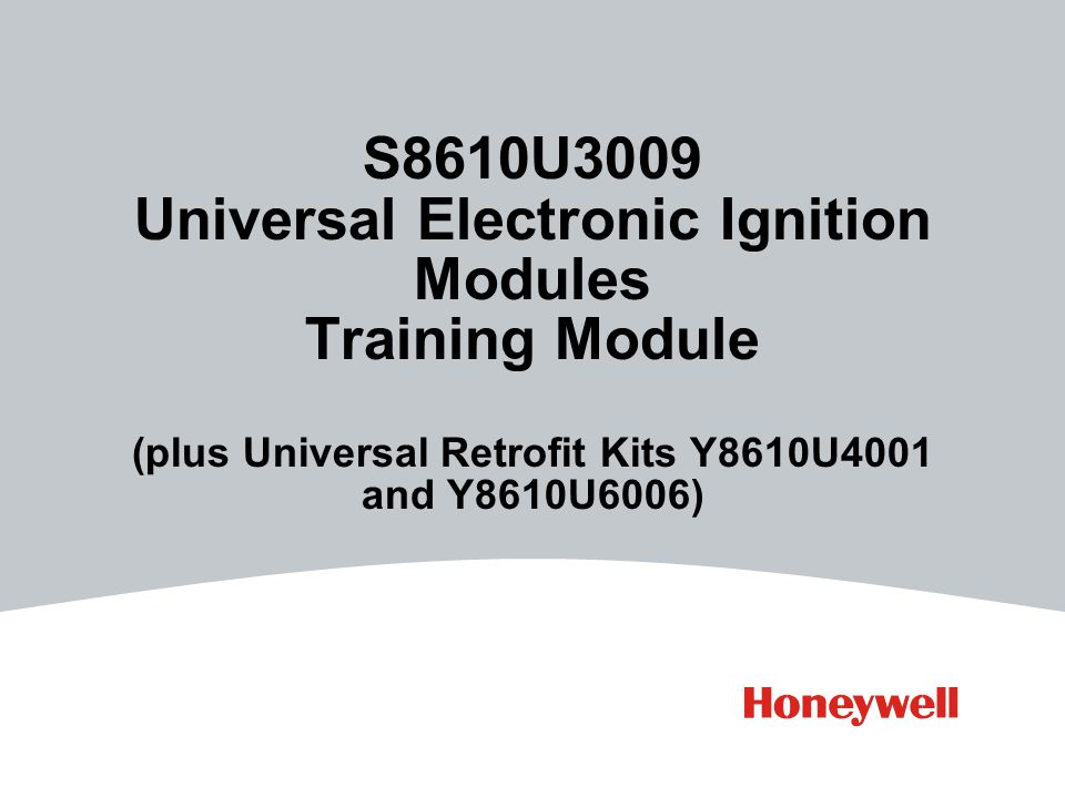 S8610U3009 Universal Electronic Ignition Modules Training Module (plus on