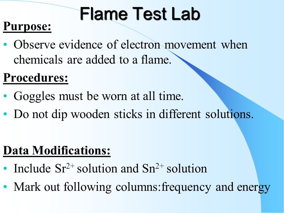 Conclusion of the flame test lab Research paper Example