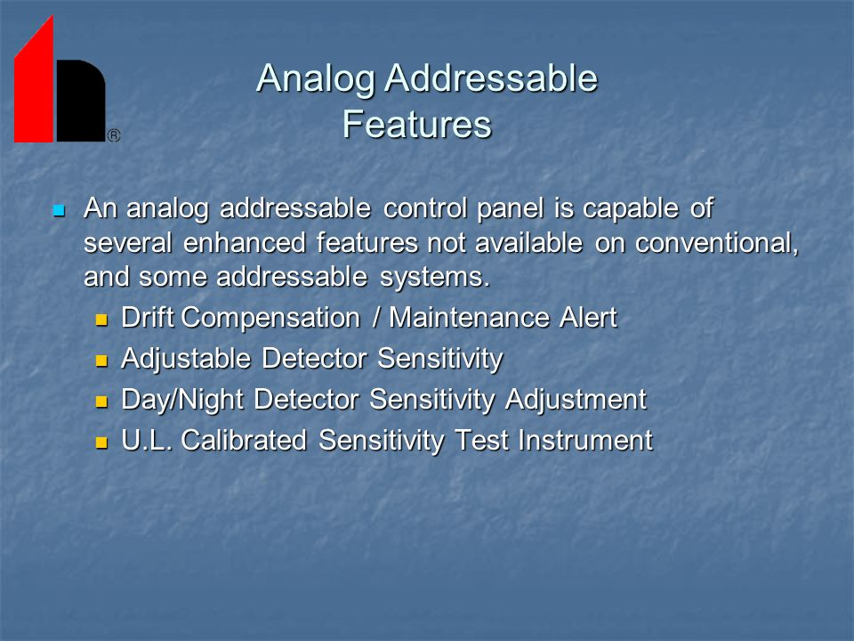 Analog Addressable Features