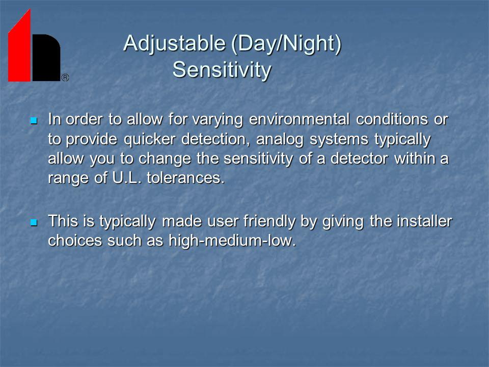 Adjustable (Day/Night) Sensitivity