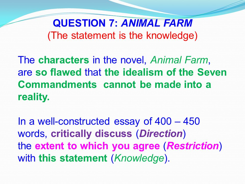 animal farm questions