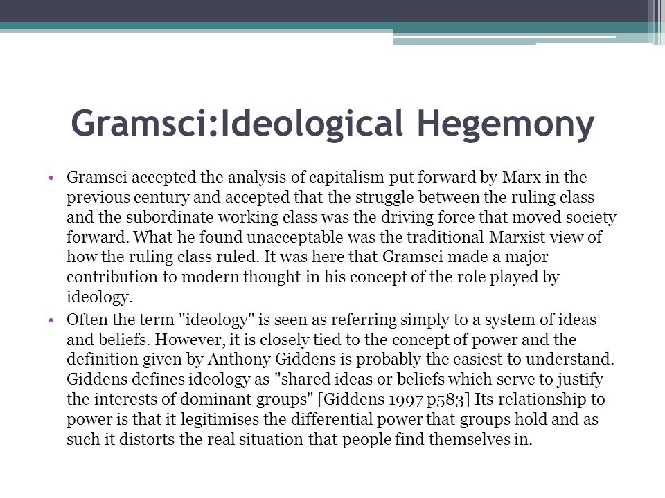 relationship between discourse ideology and hegemony definition
