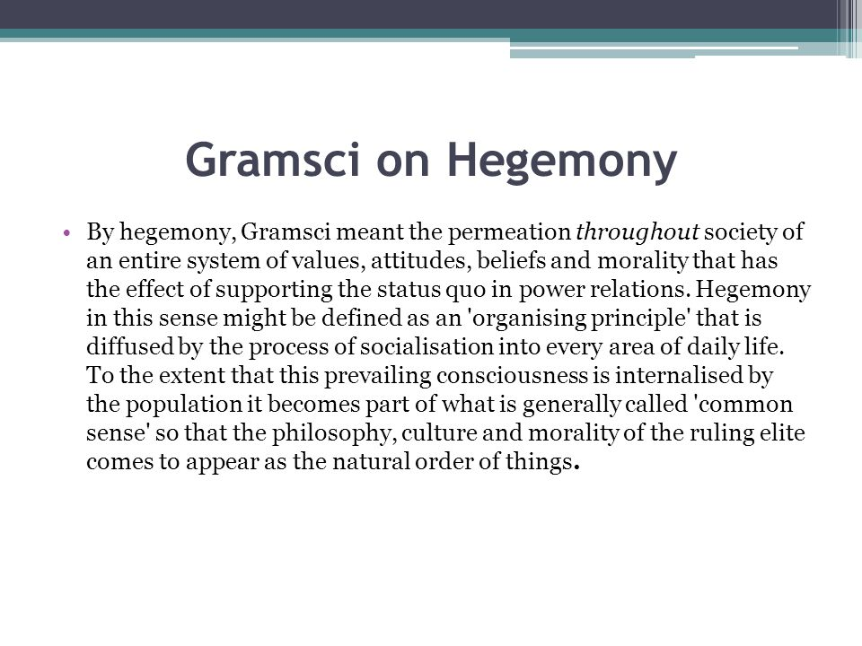 hegemony essays 'back in 2011,' the editors of this collection of essays tell us, 'it came to  a kind of  spectator sport: its subtitle pits biopolitics against hegemony,.