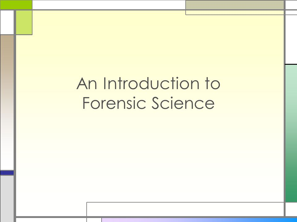 criminalistics: an introduction to forensic science essay The s tandard in forensic science fundamentals criminalistics chapter 1 review answers introduction to forensic science forensic science criminalistics.