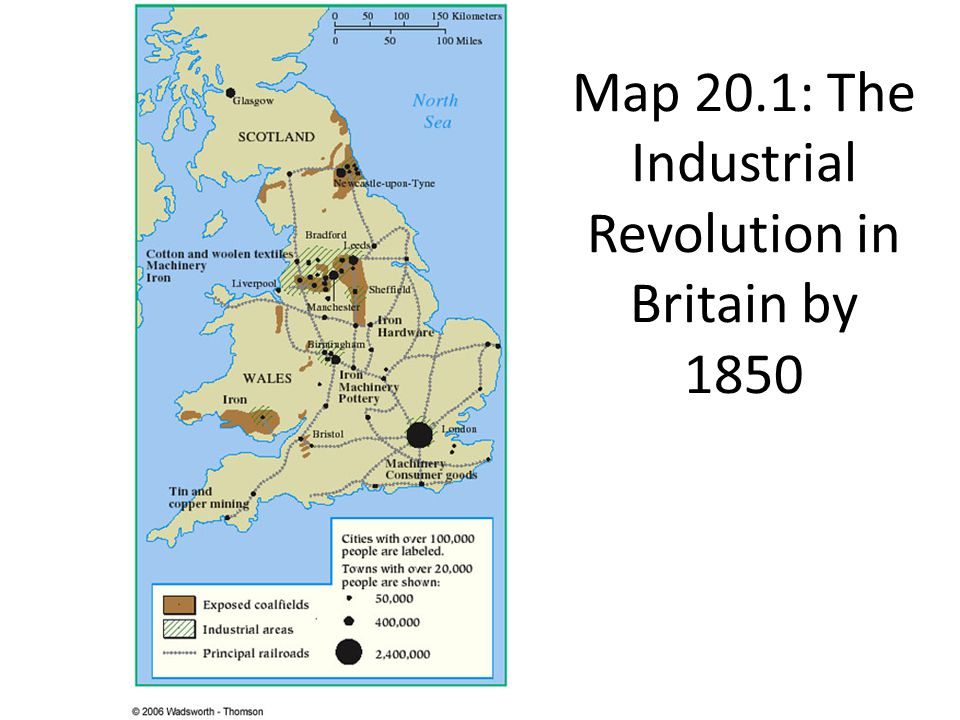 Urbanization Map During The Industrial Revolution Textile Industry and D...