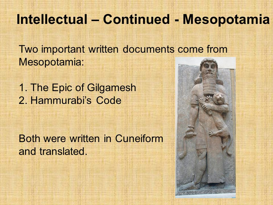 Political adn intellectual outlooks of the civilization of egypt and mesopotamia