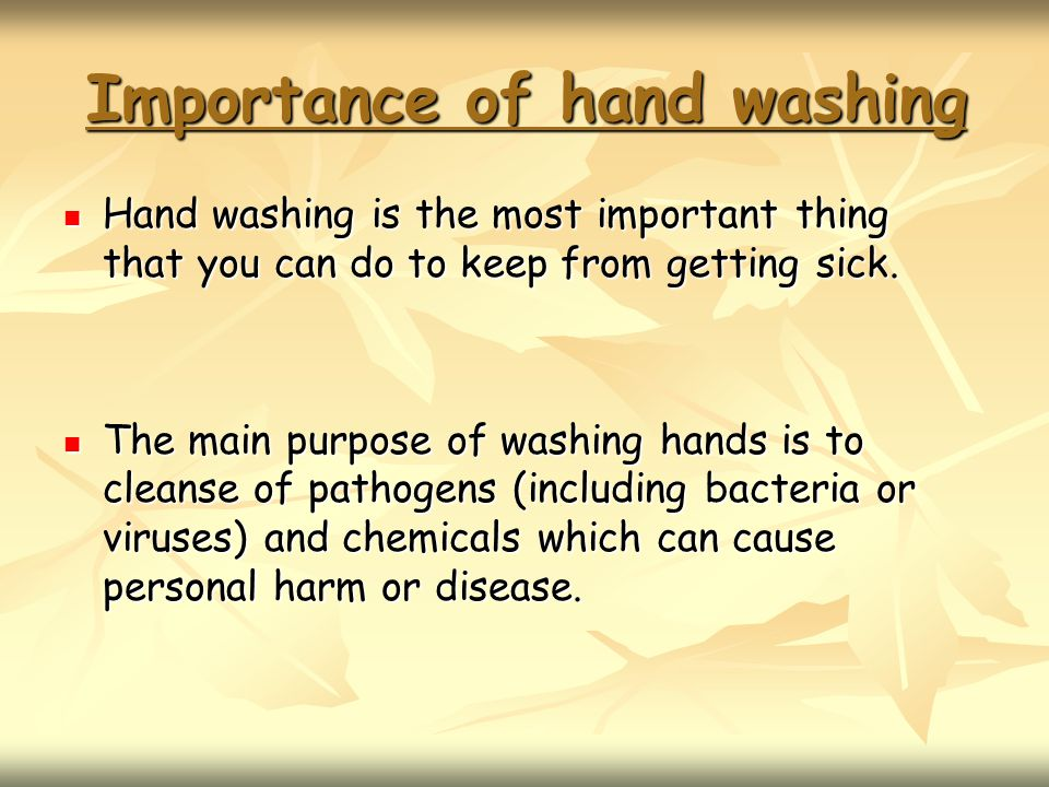 importance of hand washing Hand hygiene posters these posters provide information on hand hygiene for target audiences throughout the va health care system the posters are broken up into sections.