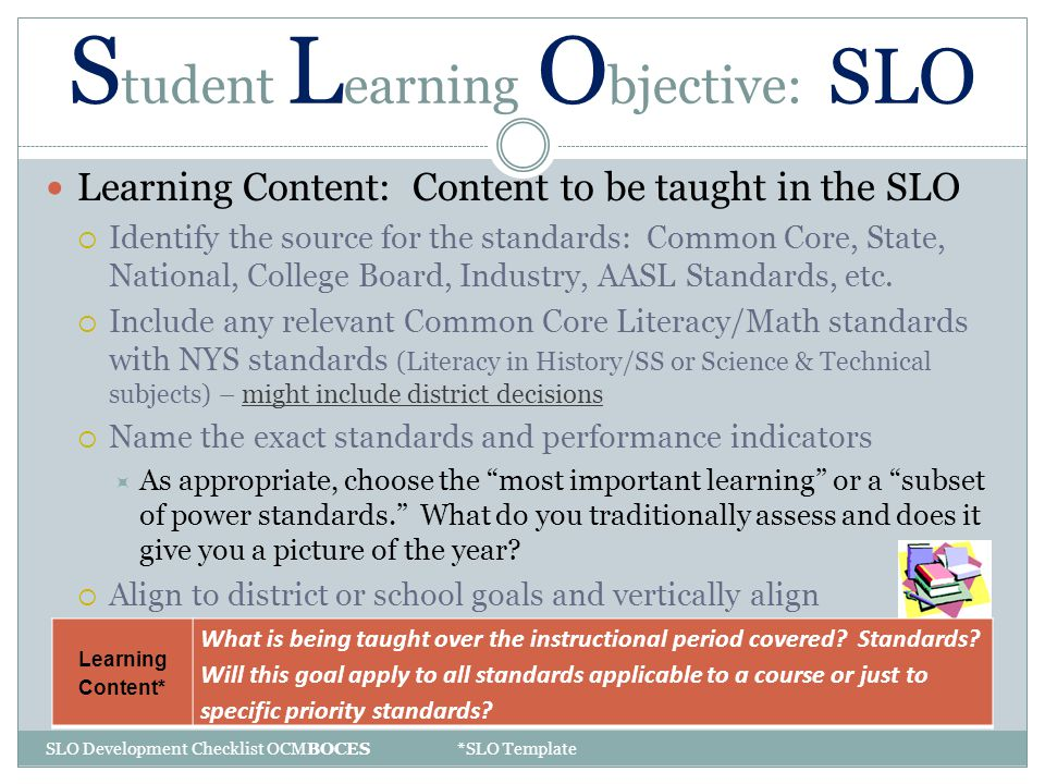 Texas Student Learning Objectives