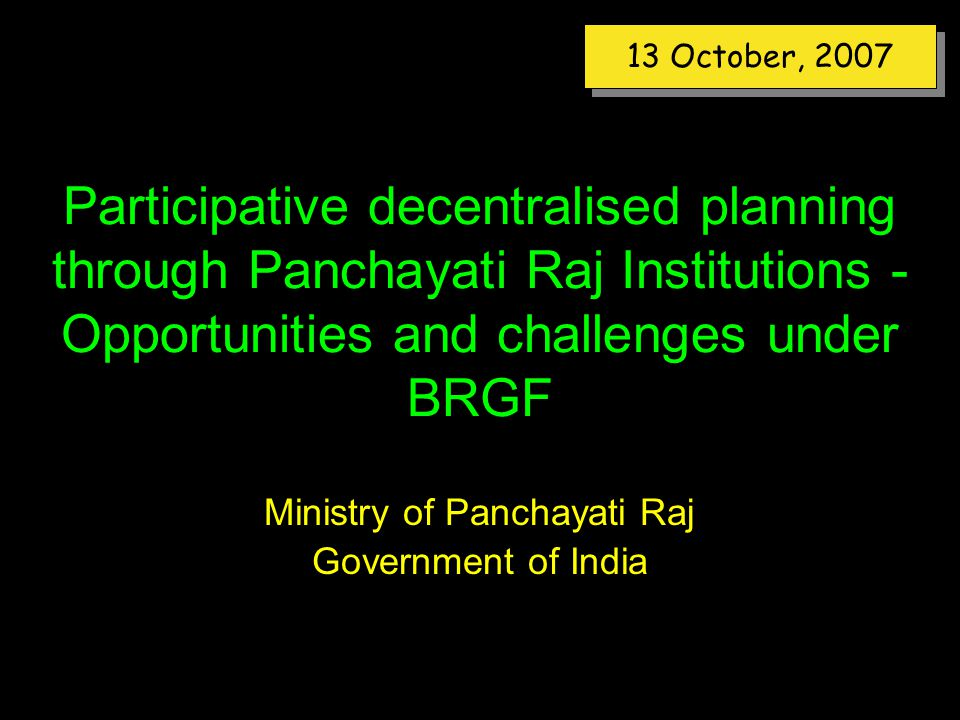 governance and panchayati raj institutions For strengthening panchayati raj institutions in rajasthan  and uttar pradesh under the mopr-undp capacity development for local governance (cdlg) project the .