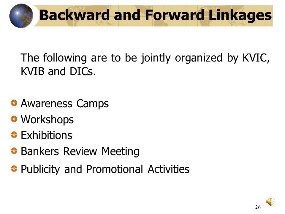Backward forward linkages mining jobs