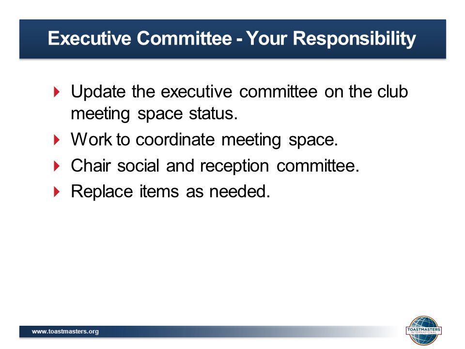 Executive Committee - Your Responsibility