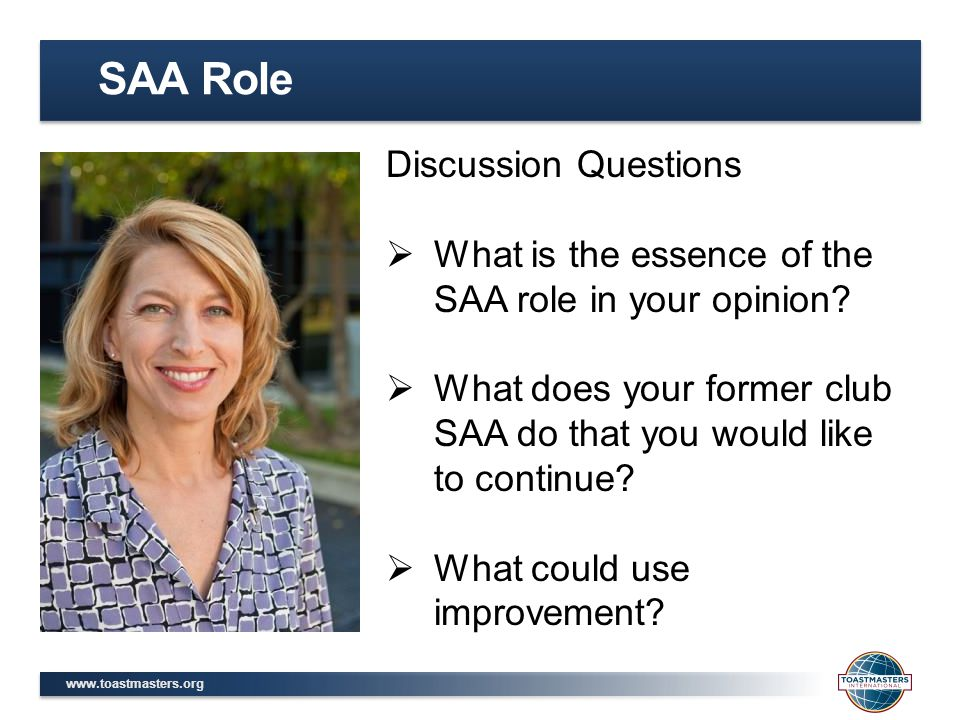 SAA Role Discussion Questions